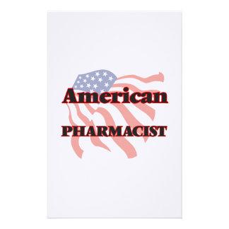 Farmacéutico americano papelería de diseño