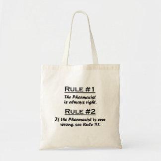 Farmacéutico de la regla bolsa