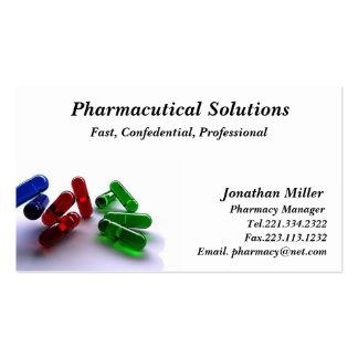 Farmacéutico de la tarjeta de visita de la farmaci