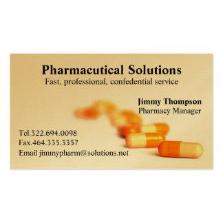 Farmacéutico de las tarjetas de visita de la farma