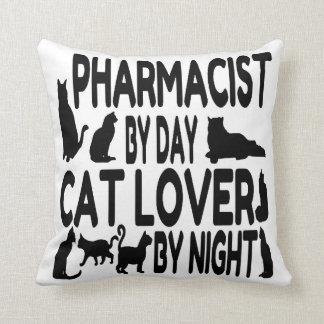 Farmacéutico del amante del gato cojín decorativo