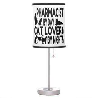 Farmacéutico del amante del gato lámpara de escritorio