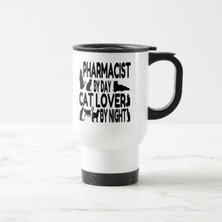 Farmacéutico del amante del gato taza de viaje