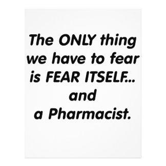 Farmacéutico del miedo tarjetón