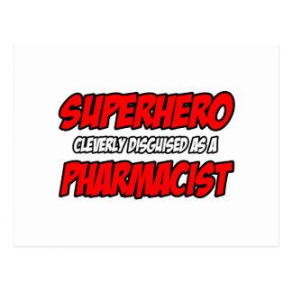 Farmacéutico del super héroe… postal