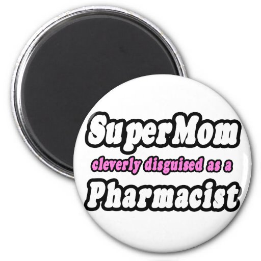 Farmacéutico del SuperMom… Imán Redondo 5 Cm