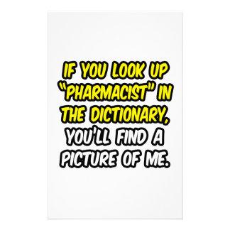 Farmacéutico en diccionario… mi imagen  papeleria