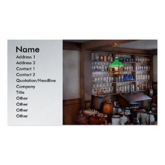 Farmacéutico - farmacéutico a partir de los 1880's plantillas de tarjeta de negocio