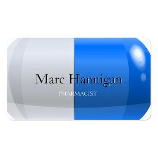 FARMACÉUTICO - farmacia azul de la píldora Tarjetas De Visita