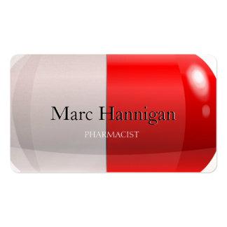 FARMACÉUTICO - farmacia roja de la píldora Tarjetas De Visita