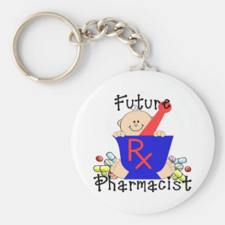 Farmacéutico futuro llavero redondo tipo pin