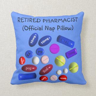 """Farmacéutico jubilado """"almohada oficial de la sies almohadas"""
