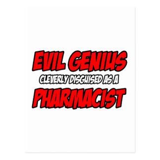 Farmacéutico malvado del genio… postales