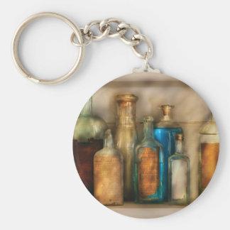Farmacéutico - medicina llavero redondo tipo pin