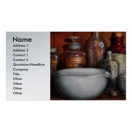 Farmacéutico - medicina para toser tarjetas de visita