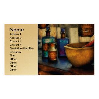 Farmacéutico - mortero y maja tarjetas de visita
