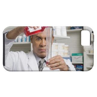Farmacéutico que mide hacia fuera la medicina funda para iPhone SE/5/5s
