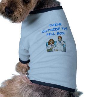 farmacéutico camisetas de perro
