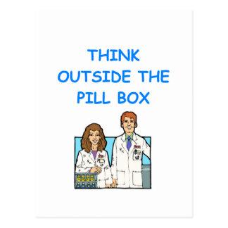 farmacéutico tarjetas postales