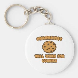 Farmacéutico Trabajará para las galletas Llavero Personalizado