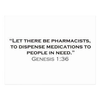 Farmacéuticos/génesis Postales