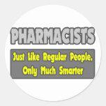 Farmacéuticos… más elegantes pegatinas redondas