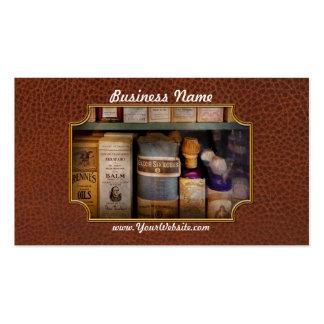 Farmacia - aceites y bálsamos tarjetas de visita