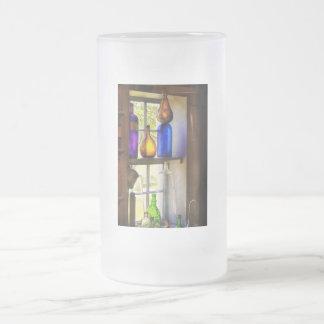 Farmacia - cristalería colorida jarra de cerveza esmerilada