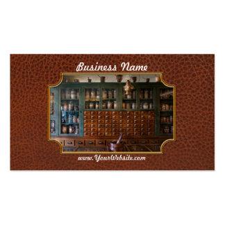 Farmacia - derecha detrás del contador plantilla de tarjeta de visita