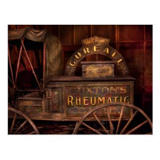 Farmacia - el carro reumático de la curación postales