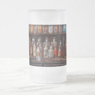 Farmacia - el sistema de la química jarra de cerveza esmerilada