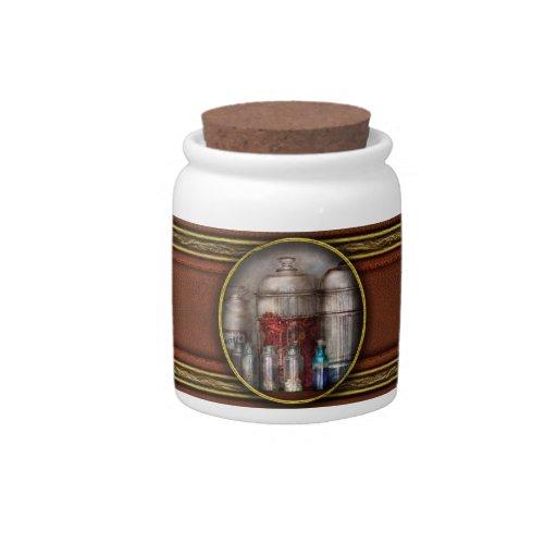 Farmacia - guijarros, polvos y líquidos misterioso jarra para caramelo