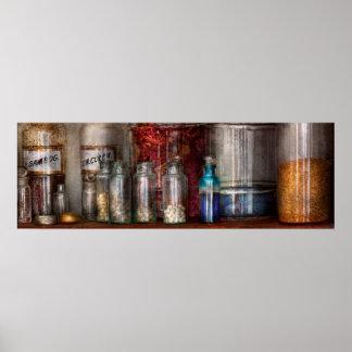 Farmacia - guijarros, polvos y líquidos misterioso impresiones