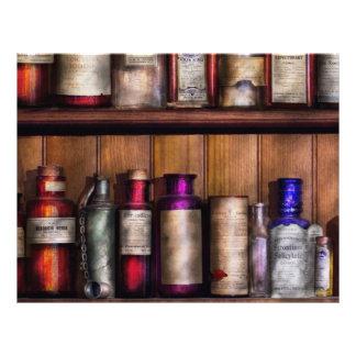 Farmacia - ingredientes de la medicina tarjetones