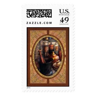Farmacia - maja - farmacología sello postal