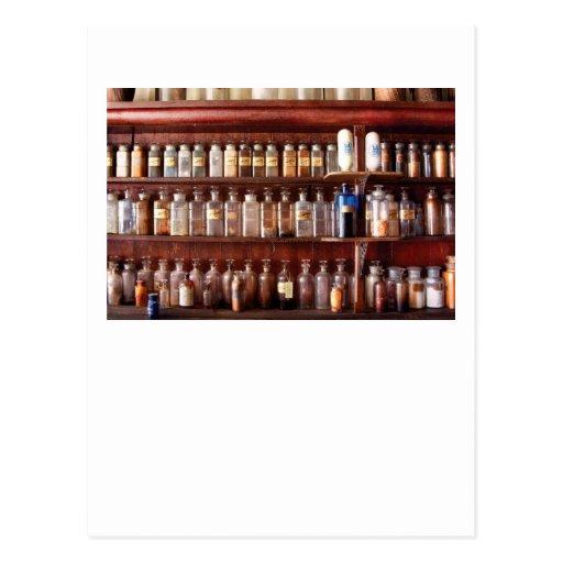 Farmacia - para el uso medicinal solamente postales
