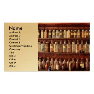 Farmacia - para el uso medicinal solamente tarjetas de visita