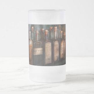 Farmacia - selección del jarabe jarra de cerveza esmerilada