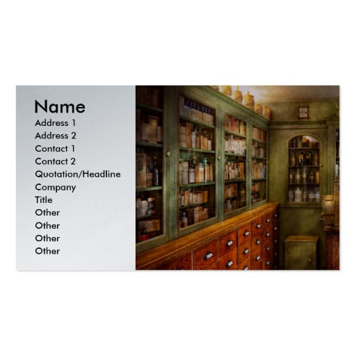 Farmacia - sitio - el dispensario tarjetas de visita