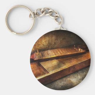 Farmacia - trituradora tradicional de la píldora llavero redondo tipo pin