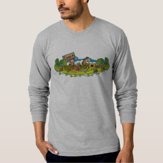 Farmaholic Logo Fitted Long Sleeve Tee Shirt