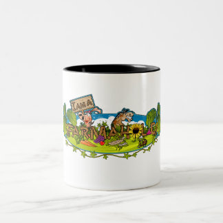 Farmaholic Logo Two-Tone Mug