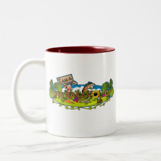 Farmaholic Logo Two-Tone Mug (2 sided)