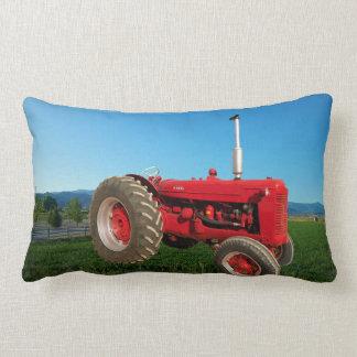Farmall Vintage Tractor Lumbar Pillow