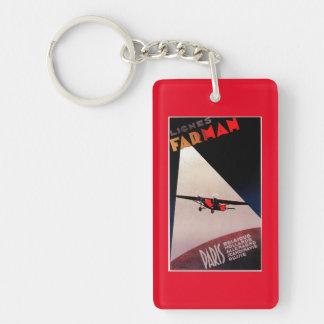Farman Airlines Farman 300 Monoplane Promo Poste Keychain