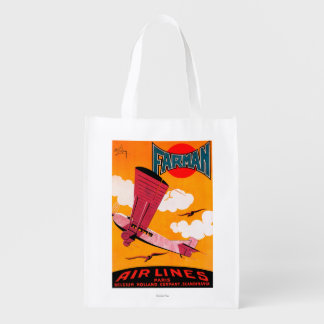 Farman Brothers Airlines F-170 Monoplane Poster Grocery Bags