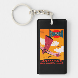 Farman Brothers Airlines F-170 Monoplane Poster Keychain