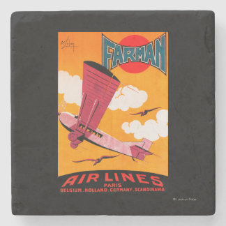 Farman Brothers Airlines F-170 Monoplane Poster Stone Coaster