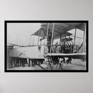 Farman gana el premio 1908 del Deutsch-Arcediano Posters