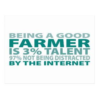 Farmer 3% Talent Postcard